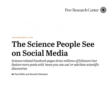 The Science People See on Social Media by Pew Research Center