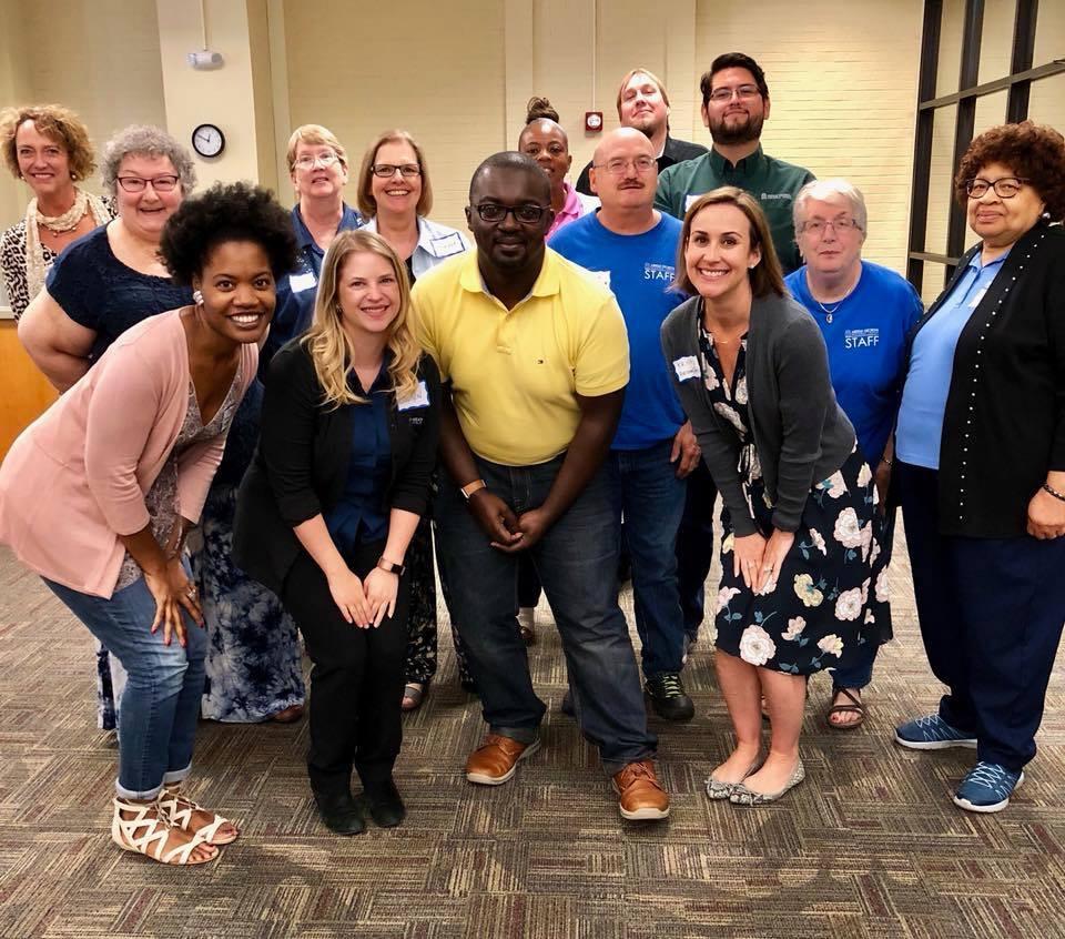 Macon library training group photo