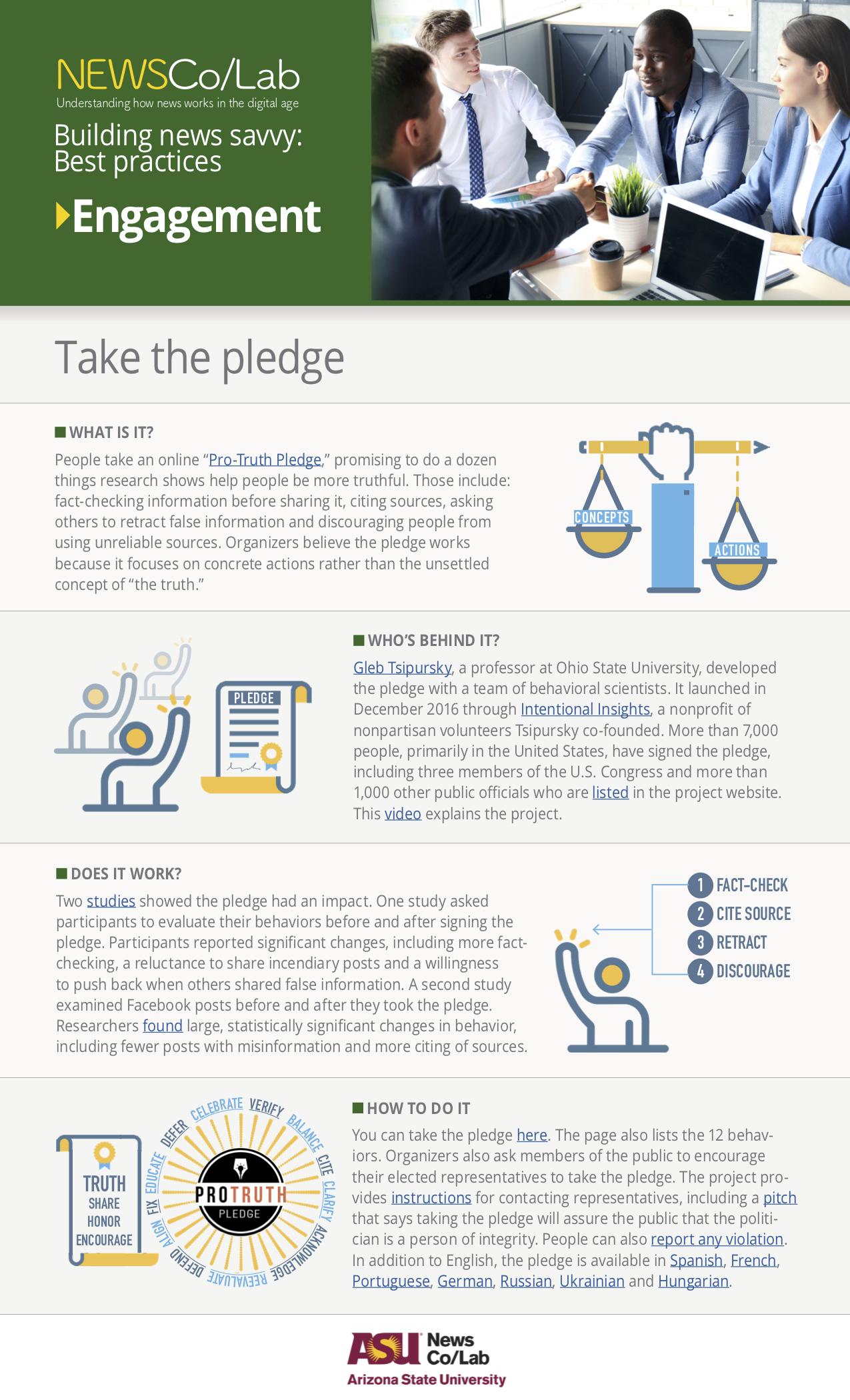 Best Practice: Pro-Truth Pledge