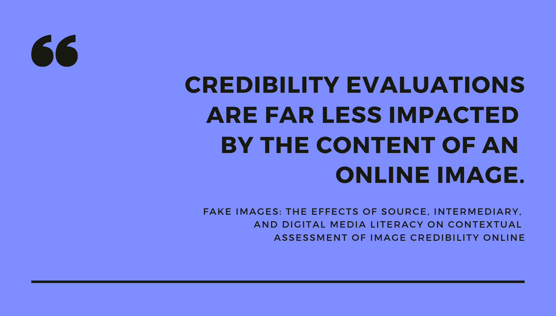 Media literacy, photography skills — not content — matter most when IDing fake images