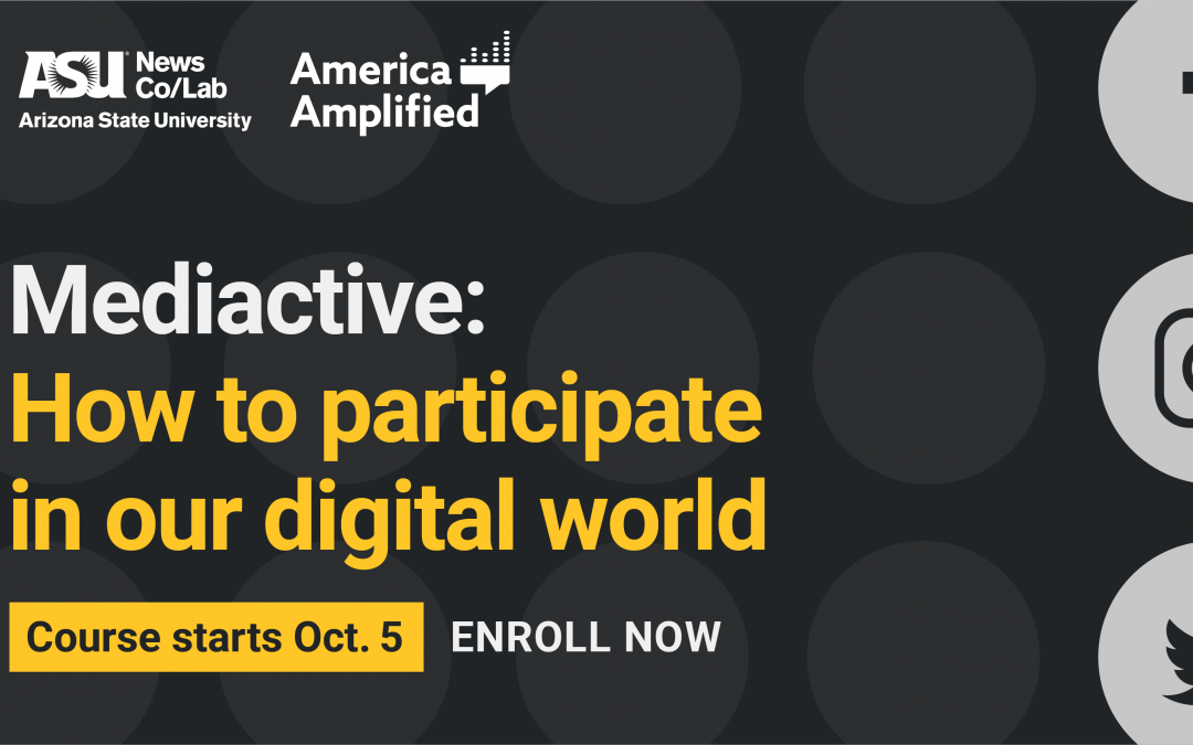News Co/Lab, America Amplified launch free online media literacy course